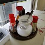 コーヒー&鉄板お好み焼き 福ちゃん - 卓上の様子