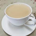 コーヒー&鉄板お好み焼き 福ちゃん - 「ミルクコーヒー (380円)」