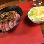 106153048 - ステーキ丼、肉ダブル