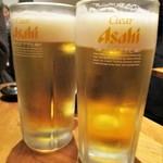 全品食べ飲み放題専門店 居酒屋 くいしんぼ - クリアアサヒ生。      2019.04.19