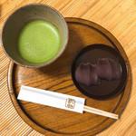 赤福 - 赤福 盆と抹茶