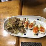 ふくろう - つまみ味玉&チャーシューセット