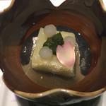 KISSHO KICHIJOJI - 先付:寄せカリフラワー タピオカ 木の芽味噌