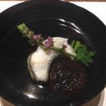 KISSHO KICHIJOJI - 御椀:油目葛叩き 菜種 春子椎茸 花穂紫蘇
