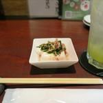 興 - 豆腐のお通し♪