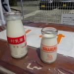 106174234 - 左 濃厚牛乳とちびっこ牛乳 右