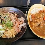 ゆで太郎 - 薬味そば、ジャンボカツカレー