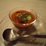 エンボカ 軽井沢 - 夏野菜のガスパッチョスープ