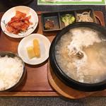 美成家 - 【2019年03月】参鶏湯定食、提供時。