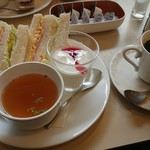 喫茶室ルノアール - 料理写真:Sセット+コ-ヒ-