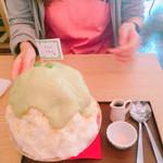 サカノウエカフェ - ずんだかき氷