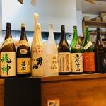 もつ焼きと円盤餃子もつ治 - 日本酒の銘柄が豊富!