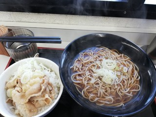 駅そば あじさい茶屋 八王子5号店 - ミニ豚丼セット¥620