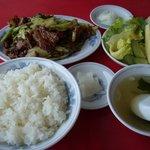 中華料理 翔竜亭 - 本日の定食(豚キヤ)