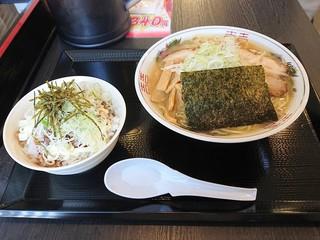 麵屋 八兵衛 米子店 - 2019年4月 Bセットラーメン大(1000円)税別