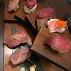 #肉寿司#野菜巻き串#熟成魚 ハッシュタグ 梅田本店