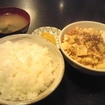 綿徳 - 麻婆豆腐定食700円