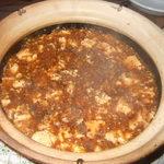 中国料理 なすの華 - 四川風麻婆豆腐東京辺りと比べるとかなり甘口ですが鹿児島では辛いらしい・・・