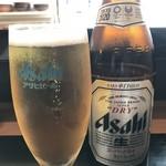 なかむら - ドリンク写真:まずはビールです!(2019.4.22)
