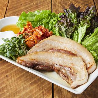 米沢豚のサムギョプサル