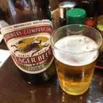 うなぎ串焼き くりから - くりから東中野店(瓶ビール)