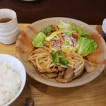 まつもと食堂 - 豚肉スタミナ焼き定食
