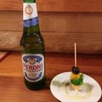 わいん食堂44 - ペローニ ナストロアズーロビール