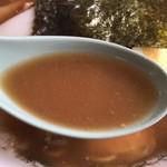中華そば まる豊 - 2019年4月20日  スープ(しょうゆ豚骨)