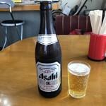 中華そば まる豊 - 2019年4月20日  瓶ビール(アサヒスーパードライ)500円