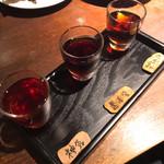 黒猫夜 - 紹興酒飲み比べ