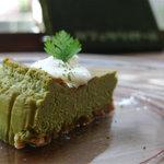 カフェ ケシパール - 日替りチーズケーキ 450円(緑茶ホワイトチョコのベイクド)