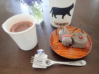 茶道具 青峰堂 - 練り切りをココアでいただきます