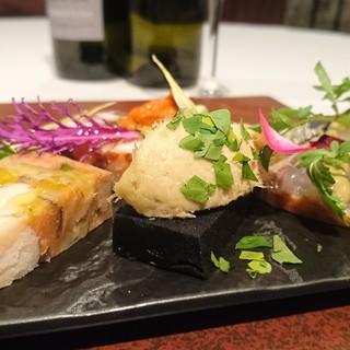 カーサ・デル・チーボ - 料理写真:「お任せコースより」 八戸魚介類の前菜盛り合わせ
