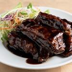 鴻元食坊 - スペアリブの黒酢炒め