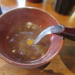 山せみ - 鴨汁を蕎麦湯で割る