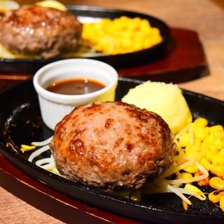 【ランチ限定】黒毛和牛100%肉汁溢れる特性ハンバーグ