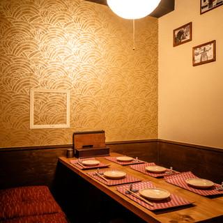 4~12名様・完全個室でゆっくりとお食事をお楽しみください。