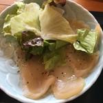 ぼっけもん - 定食の鶏ささみカルパッチョ