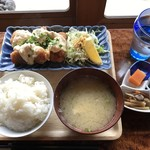 カサネ - 料理写真:★ kasaneの一汁一菜ランチ¥1,000 ☆本日のおかず☆有田鶏のチキン南蛮