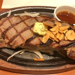 アッ!そうだステーキ - US産ブラックアンガス牛サーロインステーキ(300g)(アップ)