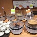 しゃぶ葉 - 料理写真:タレは6種類。