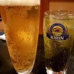 酎父 - 生ビールとチューハイ抹茶