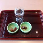 山梨ほうとう 浅間茶屋 - 生酒と生姜のべっ甲漬け
