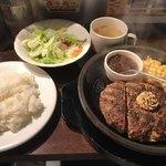 いきなりステーキ - 料理写真:ワイルドハンバーグ=1100円 税別