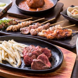 焼き・刺し・漬けなど様々な調理法で、「牛・豚・鶏」を満喫ッ◎