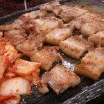 10631096 - こんがり焼きあがった豚肉