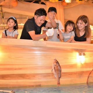 ご家族で♪釣った魚は自己責任!!お好みの調理法で!