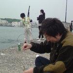 四季酒菜 かえん - 三浦に釣行。このときはマイワシが大漁でした。