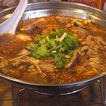 火鍋麺  - 羊火鍋麺980円(2011/12)