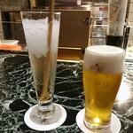魚貝三昧 げん屋 - 梅酒のソーダ割りと生ビールで乾杯~